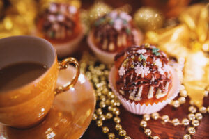Canva Christmas Cupcake Coffee