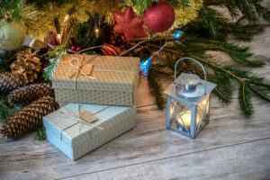 Canva Christmas Gifts in Vintage Style