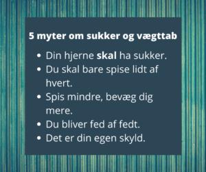 Beskrivelse af 5 myter om sukker